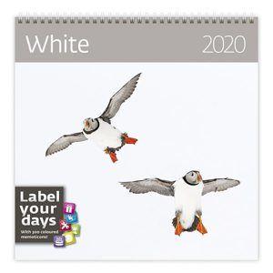 Kalendář nástěnný 2020 Label your days - White