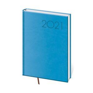 Diář 2021 denní A5 Print - světle modrá
