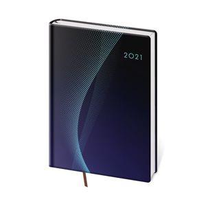 Diář 2021 denní A5 Vario - Blue design