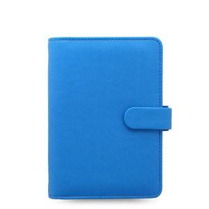 Filofax Kroužkový diář 2020 Saffiano Fluoro osobní - modrý