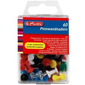 Herlitz Napínáčky do nástěnky 60 ks - mix barev