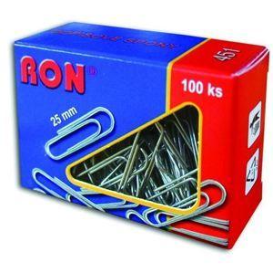 RON Kancelářské sponky 25 mm - 100 ks