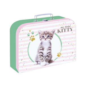 Dětský kufřík lamino 34 cm - kočka 2020