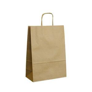 Papírová taška s krouceným uchem 45 × 17 × 48 cm, 100 g - hnědá
