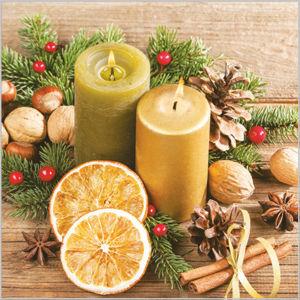 Stil Ubrousky 33 x 33 Vánoce - přírodní dekorace se svíčkami