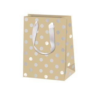 Vánoční dárková taška 16 × 22 × 8 cm - Pure Glam