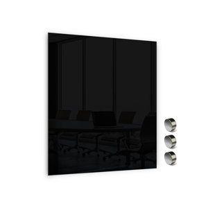 Memoboards Skleněná magnetická tabule 80 × 60 cm, černá