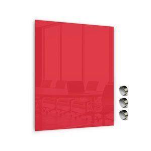 Memoboards Skleněná magnetická tabule 90 × 120 cm, červená