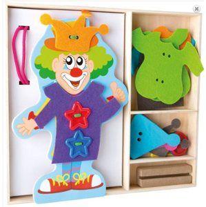 Oblékání klauna didaktická hračka