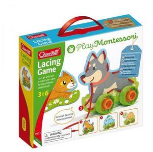 Quercetti Lacing Game lacing animals & wheels – šněrovací zvířátka s kolečky