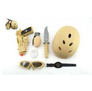 Vojenský set s helmou 7ks