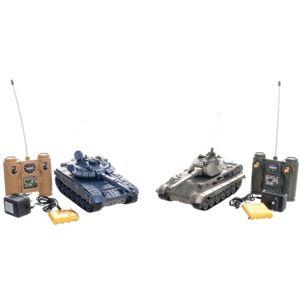 Tank RC 2 ks 36cm + dobíjecí pack, tanková bitva se zvukem se světlem