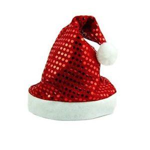 Vánoční čepice s flitry