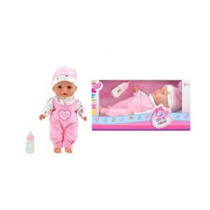 Panenka miminko s lahví měkké tělo plast 30cm