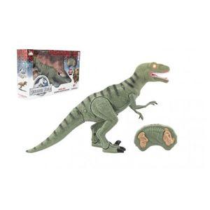 Dinosaurus chodící IC velociraptor plast 50 cm na baterie se zvukem se světlem