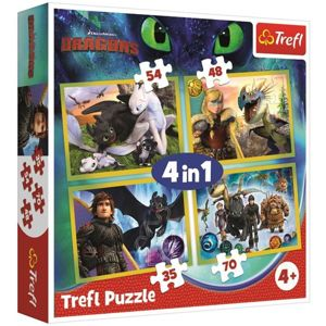 Puzzle 4 v 1 Jak vycvičit draka 28,5 x 20,5 cm