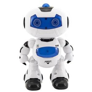 Robot RC chodící plast 20 cm, mluvící na baterie se světlem se zvukem