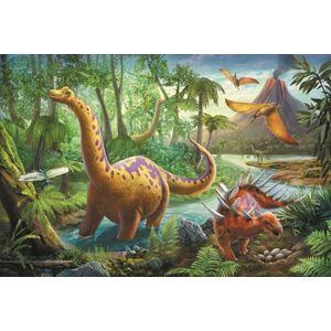Puzzle Dinosauři 33 x 22cm 60 dílků