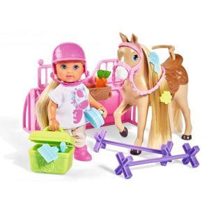 Panenka Evička s koníkem