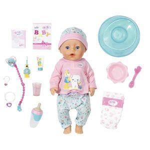 Baby Born Bath Soft Touch Holčička s doplňky na čištění zubů, 43 cm