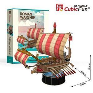 Puzzle 3D Roman Warship - 85 dílků