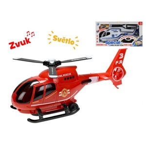 Helikoptéra 32 cm narážecí na baterie se světlem a zvukem, mix