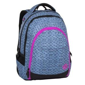 Studentský batoh Bagmaster - DIGITAL 8 A BLUE/PINK/BLACK