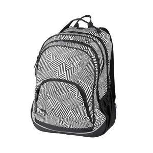 Školní batoh dvoukomorový Easy - černo-bílý