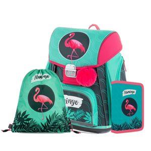 Školní set OXY PREMIUM FLEXI - Flamingo (aktovka + penál + sáček)