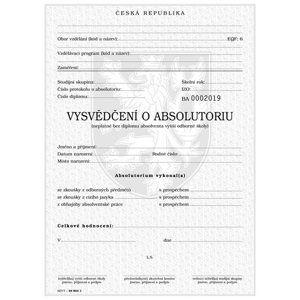 Vysvědčení o absolutoriu ve vyšší odborné škole, QR kód