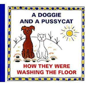 A Doggie and a Pussycat - How they were washing the Floor - Čapek Josef