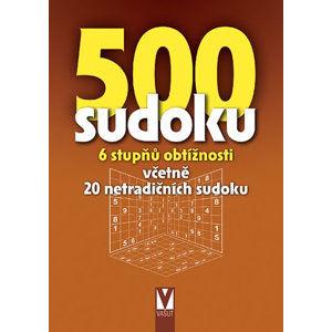 500 sudoku - 6 stupňů obtížností včetně 20 netradičních sudoku (hnědá) - neuveden