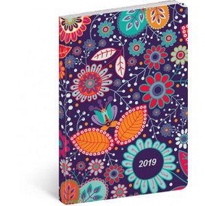 Diář 2019 - Květiny - ultralehký, 11 x 17 cm - neuveden