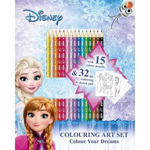 Ledové království - Umělecký set s pastelkami - neuveden