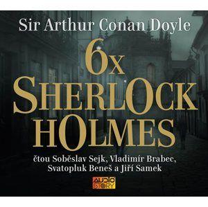 6x Sherlock Holmes - Výběr z již legendární knihy povídek Dobrodružství Sherlocka Holmese - CDmp3 - Doyle Arthur Conan